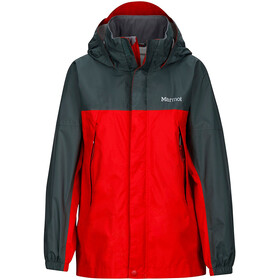 """Marmot Kids PreCip Jacket Team Red/Dark Zinc"""